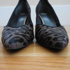 Stuart Weitzman Shoes - $415~STUART WEITZMAN~Leopard Print Haircalf Pumps